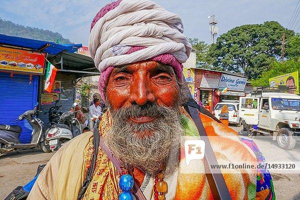 Older yogi in Rishikesh  India.