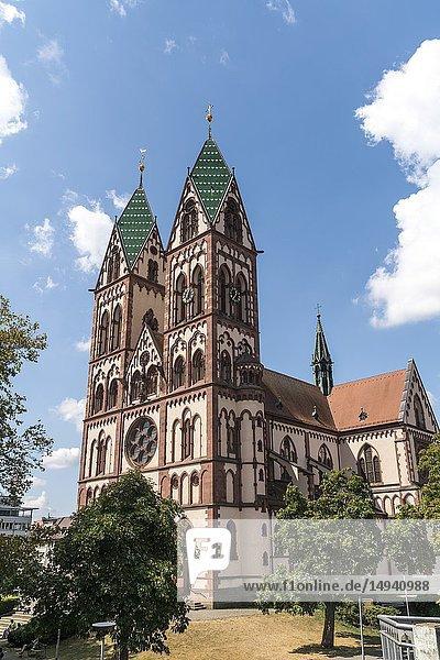 Herz-Jesu-Kirche  Freiburg im Breisgau  Schwarzwald  Baden-Württemberg  Deutschland | Sacred Heart of Jesus church   Freiburg im Breisgau  Black Forest  Baden-Württemberg  Germany.