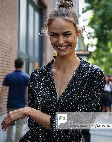 MILAN  Italy- September 20 2018: Women on the street during the Milan Fashion Week.