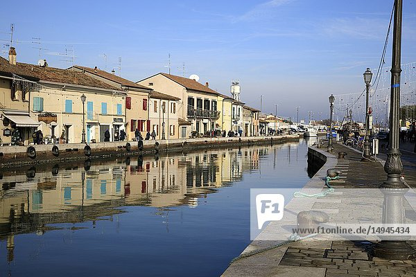 Harbor channel Leonardesque  Cesenatico  Forlì-Cesena  Emilia Romagna  Italy.