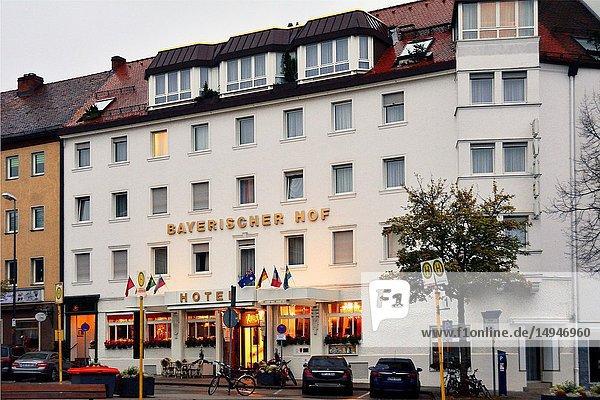 Bayerischer Hotel near Central train station Bayreuth Hbf - Hauptbahnhof  Bayreuth  capital of Upper Franconia  Bavaria  Bayern  Germany  Europe