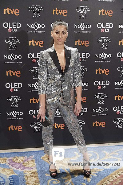 Carolina Yuste attends the candidates to Goya Cinema Awards 2017 dinner party at Royal Teatheron January 14  2019 in Madrid  Spain