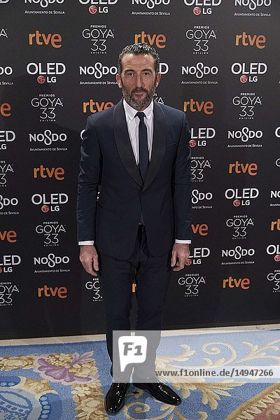 Luis Zahera attends the candidates to Goya Cinema Awards 2017 dinner party at Royal Teatheron January 14  2019 in Madrid  Spain