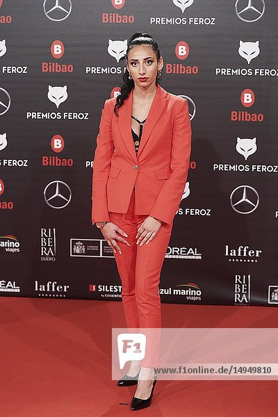 Zaira Morales attends the 2019 Feroz Awards at Bilbao Arena on January 19  2019 in Madrid  Spain