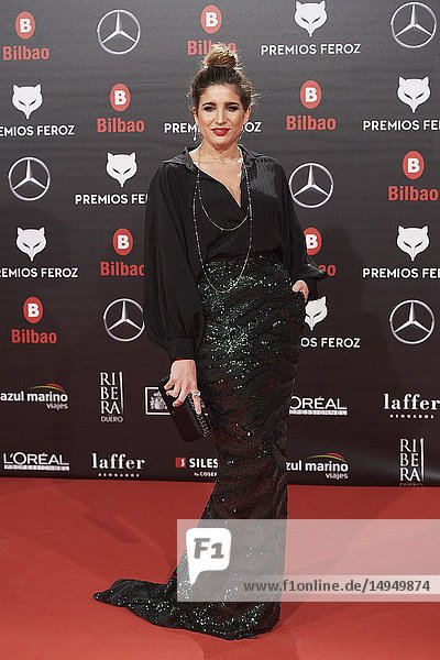 Lucia Jiemenez attends the 2019 Feroz Awards at Bilbao Arena on January 19  2019 in Madrid  Spain