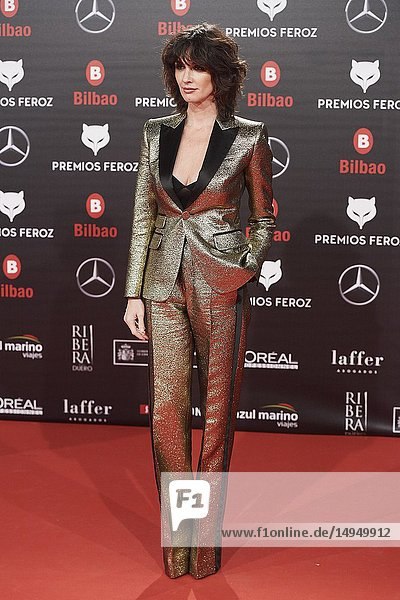 Paz Vega attends the 2019 Feroz Awards at Bilbao Arena on January 19,  2019 in Madrid,  Spain