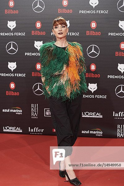 Najwa Nimri attends the 2019 Feroz Awards at Bilbao Arena on January 19  2019 in Madrid  Spain