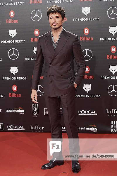 Andres Velencoso attends the 2019 Feroz Awards at Bilbao Arena on January 19  2019 in Madrid  Spain