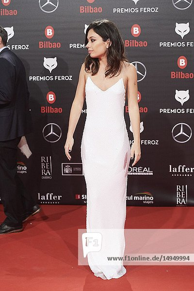 Anna Castillo attends the 2019 Feroz Awards at Bilbao Arena on January 19  2019 in Madrid  Spain