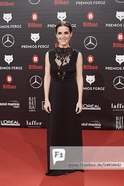 Nuria Gago attends the 2019 Feroz Awards at Bilbao Arena on January 19,  2019 in Madrid,  Spain