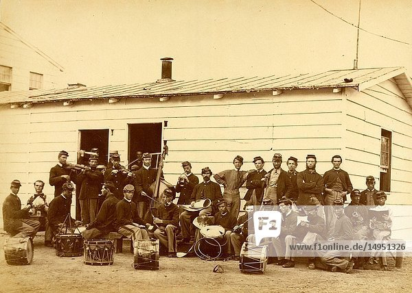 Drum corps of 10th Veteran Reserve Corps  Washington  D.C.  April  1865