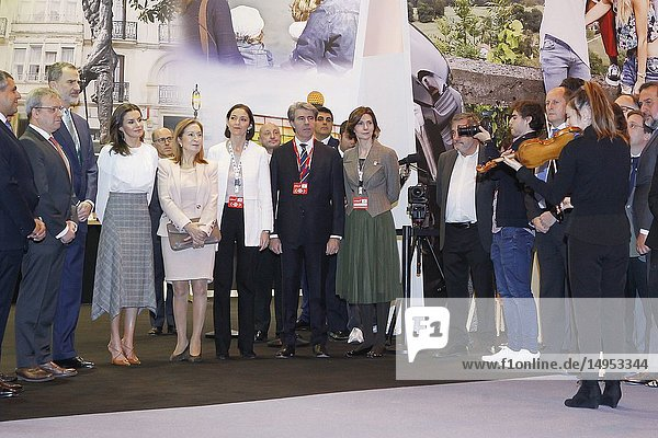King Felipe VI of Spain  Queen Letizia of Spain attended the Opening of Internacional Tourism Fair (FITUR) at Feria de Madrid on January 23  2019 in Madrid  Spain.23/01/2019.