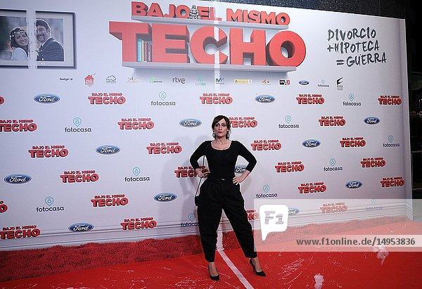 Ana Morgade  presenter  comedian and Spanish actress  attended the premiere  posing in the photocall. A film directed by Juana Macias with Jordi Sánchez  Silvia Abril  Daniel Guzmán  Malena Alterio.