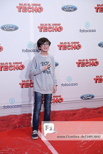 Dani Nieto  Spanish actor  attended the premiere  posing in the photocall. A film directed by Juana Macias with Jordi Sánchez  Silvia Abril  Daniel Guzmán  Malena Alterio.