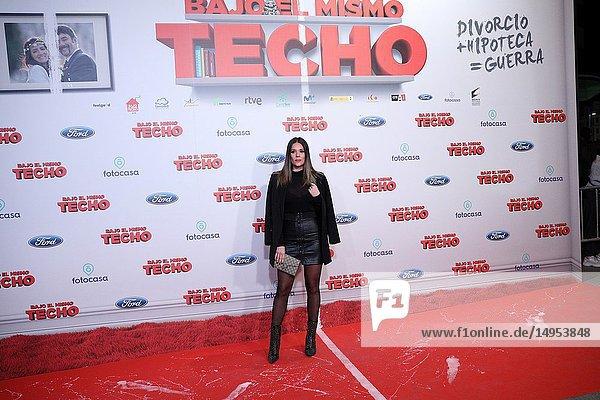 Lorena Gomez  Spanish singer  attended the premiere  posing in the photocall. A film directed by Juana Macias with Jordi Sánchez  Silvia Abril  Daniel Guzmán  Malena Alterio.