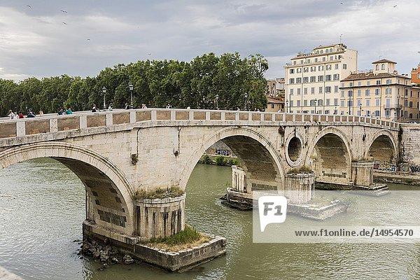 Ponte Sisto bridge  Rome  Italy  Europe.
