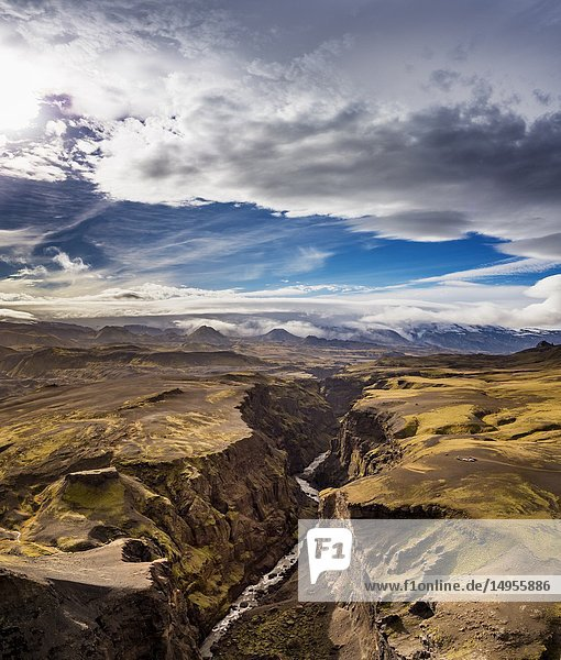 Markarfljotsgljufur Canyon  Central Highlands  Iceland.