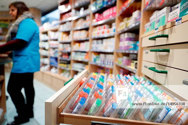 Pharmacy. Homeopathic medicines. France.
