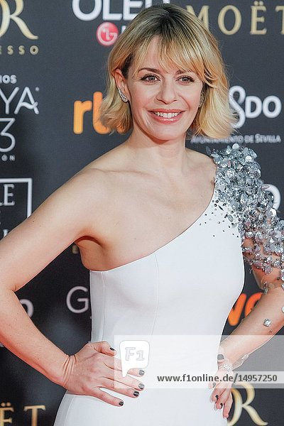 Maria Adanez attends the Spanish Cinema awards Goya 33rd edition at FIBE attends 33rd Goya Cinema Awards 2019 at Palacio de Congresos y Exposiciones FIBES on February 3  2019 in Sevilla  Spain.02/02/2019.