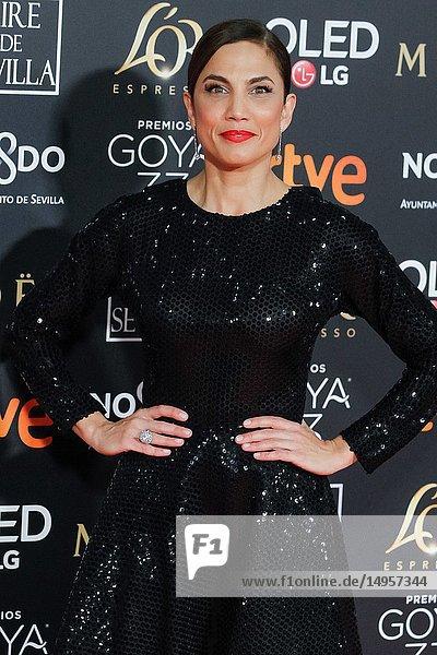 Toni Acosta attends the Spanish Cinema awards Goya 33rd edition at FIBE attends 33rd Goya Cinema Awards 2019 at Palacio de Congresos y Exposiciones FIBES on February 3  2019 in Sevilla  Spain.02/02/2019.