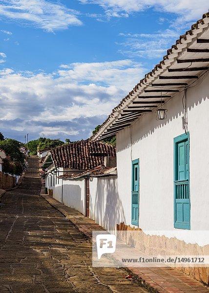 Street of Barichara  Santander Department  Colombia.