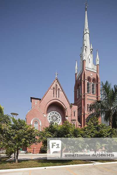 Holy Trinity Cathedral built in 1895  Yangon  Myanmar  Asia.