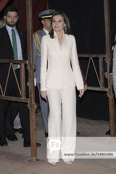 Queen Letizia of Spain  Princess Lalla Meryem of Morocco attends a Meeting with children and young people in reception and reintegration at Second Chance School on February 14  2019 in Sale-Rabat  Morocco..The Spanish Royals are on a two day visit to Morocco.14/02/2019.