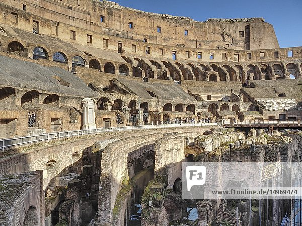 Interior of colosseum  Rome  Italy.