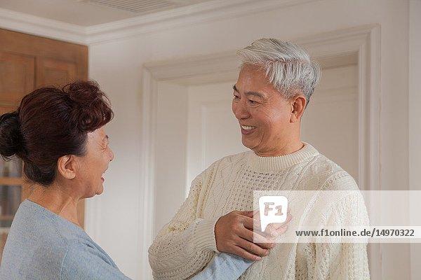 Happy senior couple  chinese ethnicity