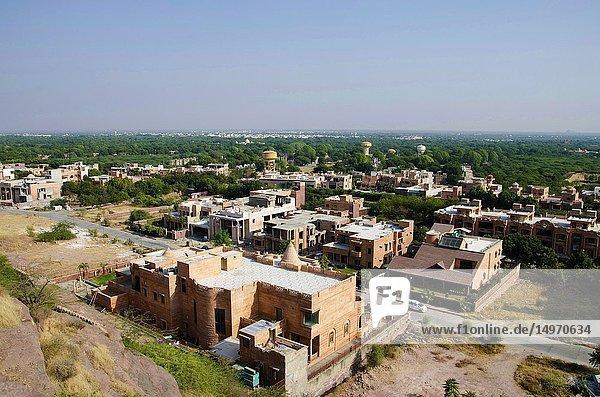 Aerial view of buidings  Jodhpur  Rajasthan  India.
