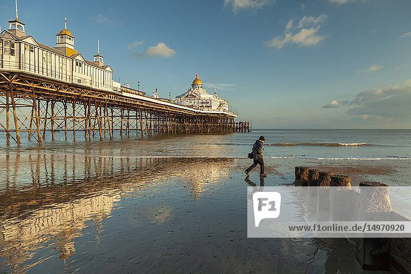 Winter afternoon at Eastbourne Pier  East Sussex  England.