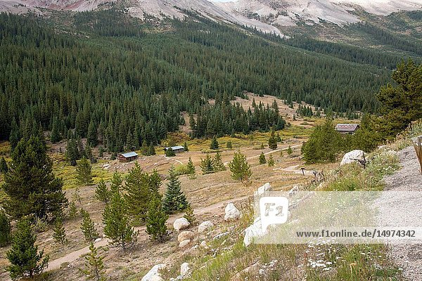 The ghost town Independence  Rocky Mountains  Colorado
