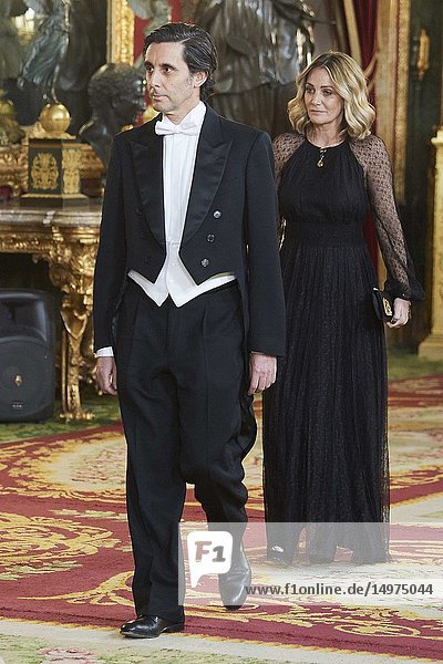 Jose Maria Alvarez-Pallete attends a gala Dinner honouring President of Peru and wife at Royal Palace on February 27  2019 in Madrid  Spain