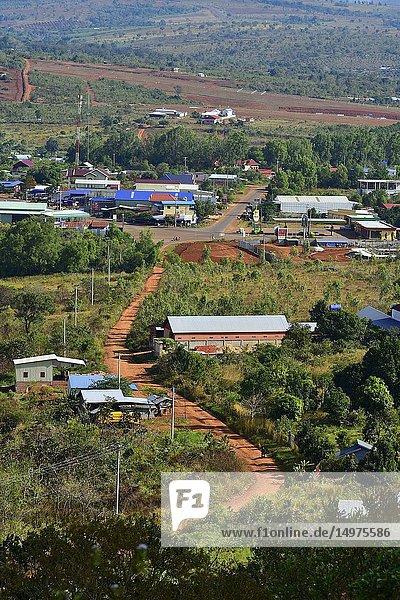 Landscape near Sen Monorom  Mondolkiri province  Cambodia  South east Asia.