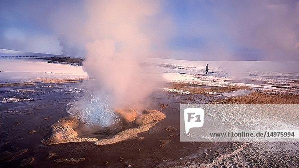 Geothermal Hot Springs  Hveravellir  Iceland.