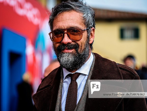 FLORENCE  Italy- January 9 2019: Daniele Biagioli on the street during the Pitti 95.