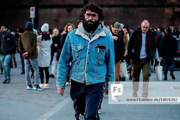 FLORENCE,  Italy- January 9 2019: Yilmaz Aktepe on the street during the Pitti 95.