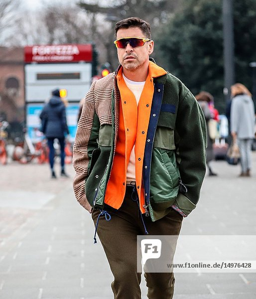 FLORENCE  Italy- January 8 2019: Alex Badia on the street during the Pitti 95.