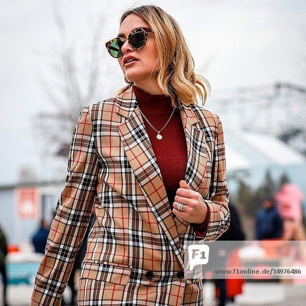 FLORENCE  Italy- January 8 2019: Giulia Gaudino on the street during the Pitti 95.
