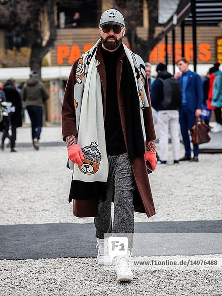 FLORENCE  Italy- January 8 2019: Raimondo Rossi on the street during the Pitti 95.