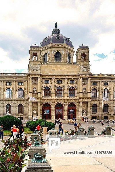 Museum of Art History on the Maria-Theresien-Platz in Vienna - Austria.