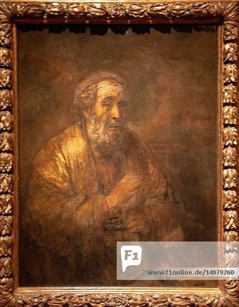 Homer by painter Rembrandt van Rijn.