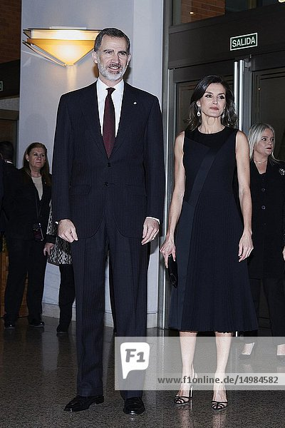 King Felipe VI of Spain  Queen Letizia of Spain attend Tribute Concert For Terrorism Victims at National Auditorium on March 7  2019 in Madrid  Spain