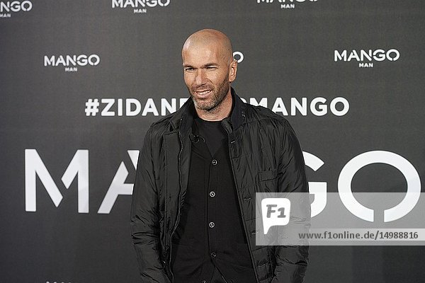 Zinedine Zidane presented as New Mango Man image for the 2015 collection at Camera Studio on January 19  2015 in Madrid