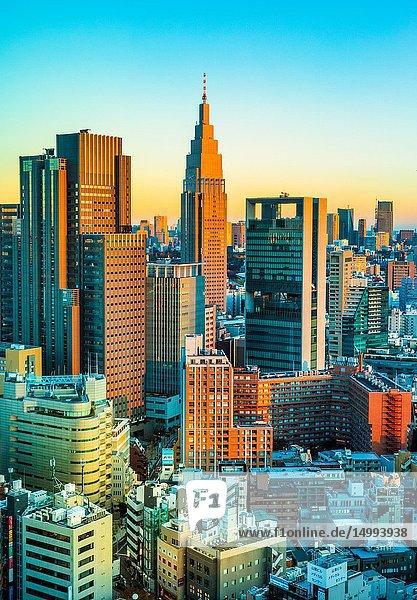 Japan  Tokyo City  Shinjuku ward  Shinjuku Station South Side skyline.