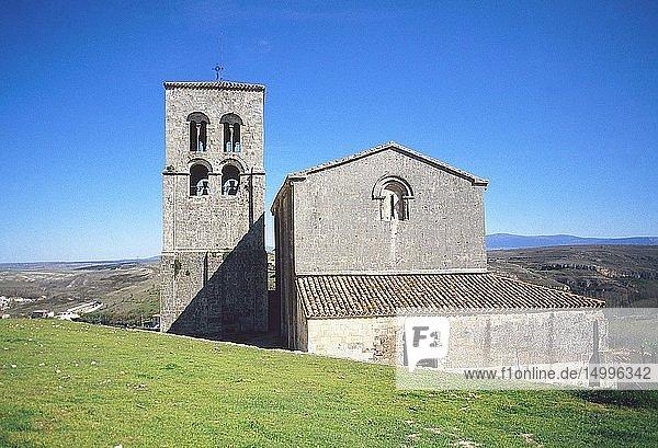 El Salvador church. Sepulveda  Segovia province  Castilla Leon  Spain.