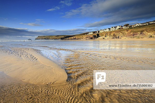 New Polzeath and Pentire Point captured from Polzeath Beach in mid February.