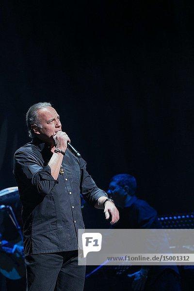 Bertín Osborne at the Teatro Calderón in Madrid where he presents `Yo debí enamoarme de tu madre'  his new album.