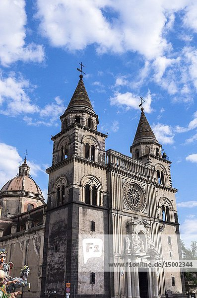 Cathedral  Acireale  Catania  Sicily  Italy.