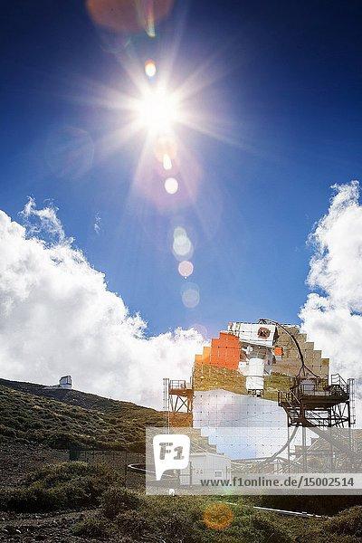 Roque de los muchachos astronomical observatory. garafia. la palma. canary islands. spain.